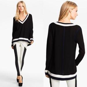 Rag And Bone Black Prymm Wool Jersey Sweater